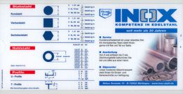 Data Ruler for stainless Sectional and Bar Steel